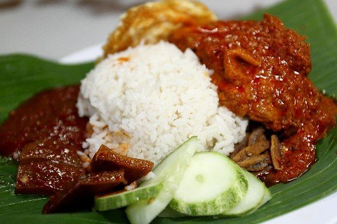 Nasi Lemak is the national dish of Malaysia
