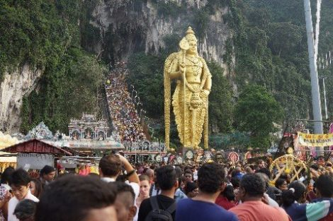 Statue of Lord Murugan at the Batu Caves