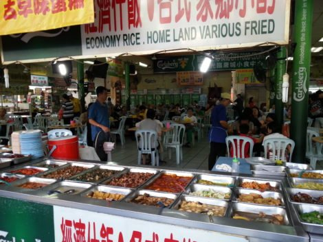 Food court at Petaling Street Market
