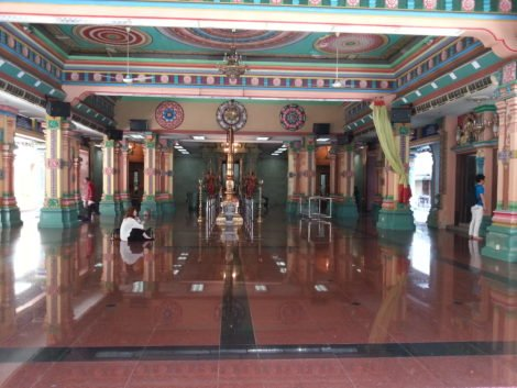 Main prayer hall of Sri Mahamariamman Temple