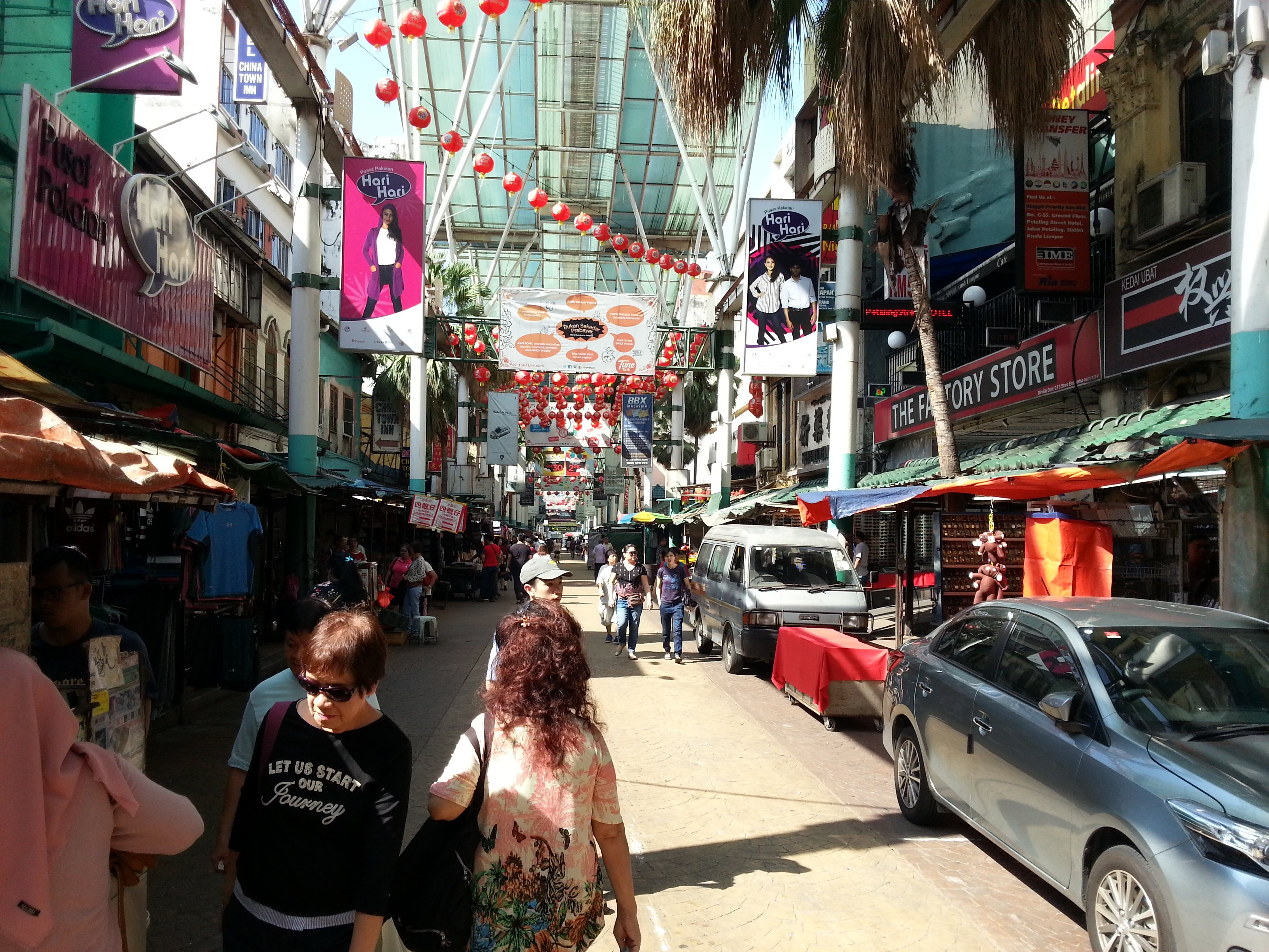 Main shopping area in Petaling Street Market