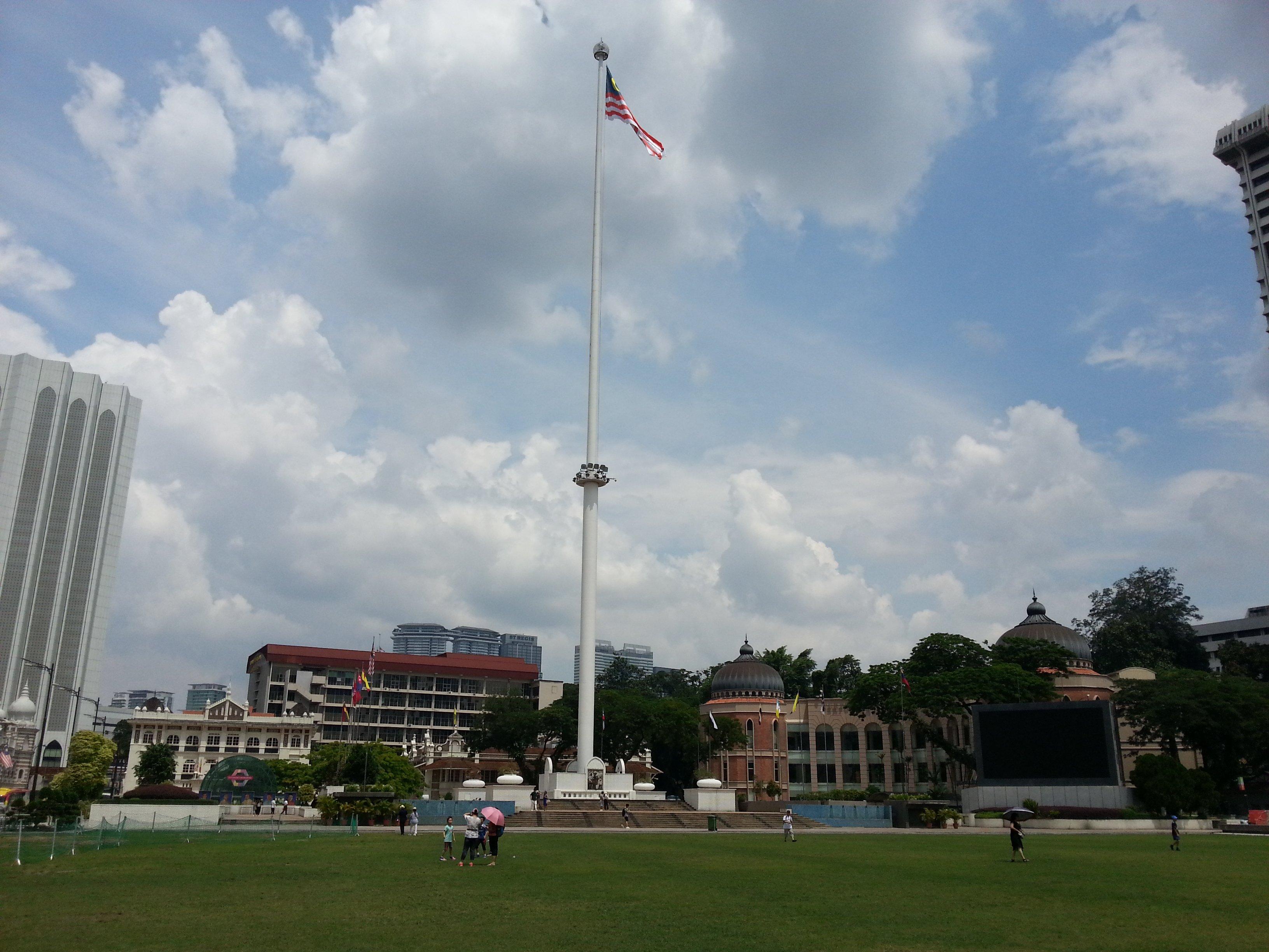 Malaysian flag in Merdeka Square