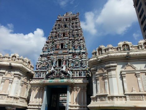 Raja Gopuram tower at Sri Mahamariamman Temple