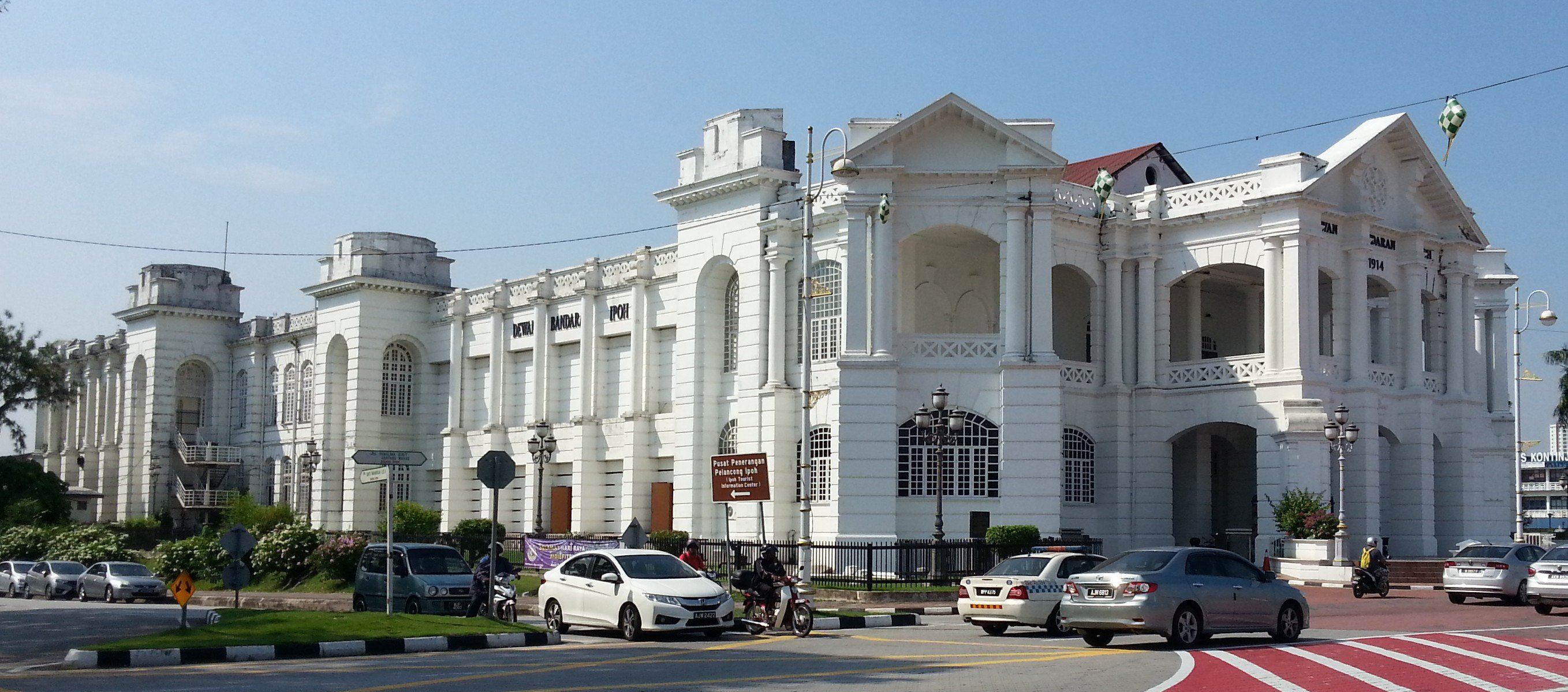 Side view of Ipoh Town Hall