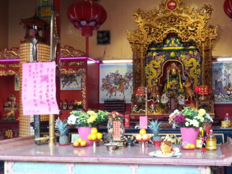 The guan dao spear and guan jie sword for which the temple is famous