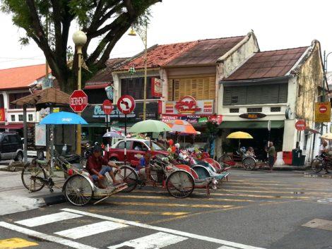 Trishaws in George Town