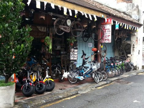 Bike rental shop in George Town Penang