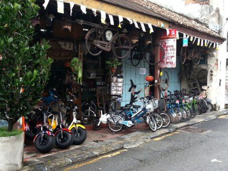 Bike rental shop in George Town Penang