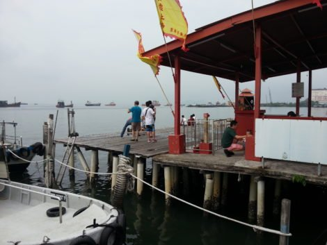 Chew Jetty is located near Penang's main ports