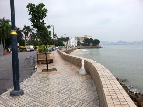 Coastline front of the Esplanade