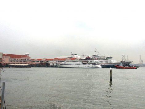 Cruise Ships at Sweetenham Ferry Pier