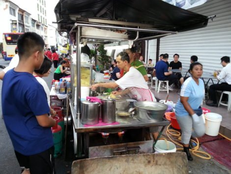Curry mee stall on Chulia Street