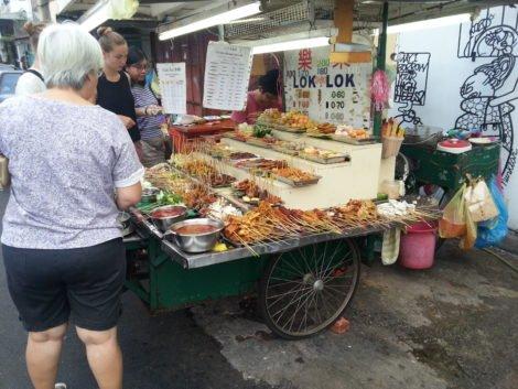 Lok Lok stall on Chulia Street