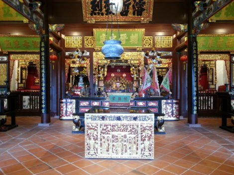 Main prayer hall at Cheah Kongsi