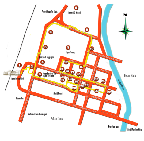 Map of Ipoh Hertage Trail