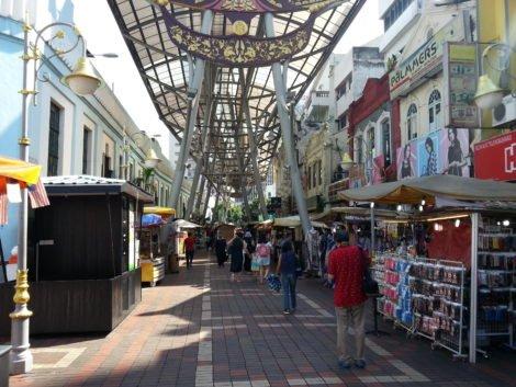Market stalls on Katsuri Walk