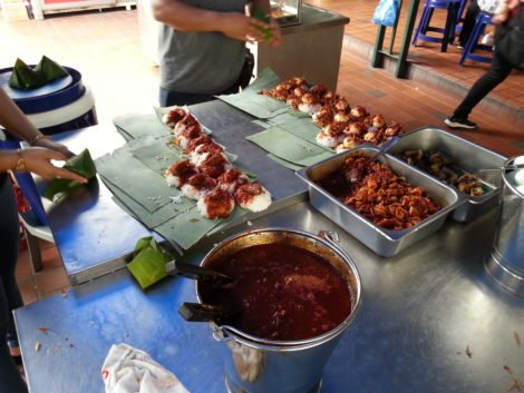 Nasi Lemak is the most popular dish at Sri Weld Food Court