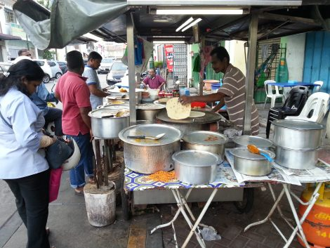 Roti stall in Little India
