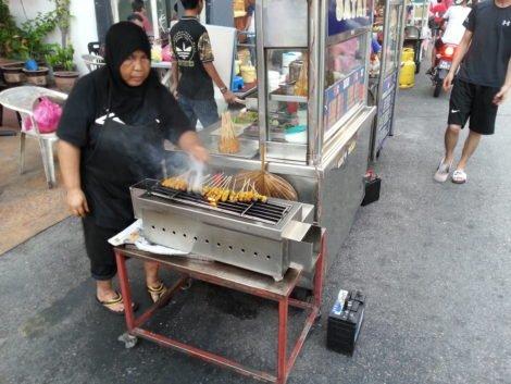 Satay stall on Chulia Street