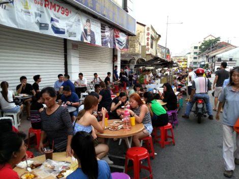 Street market on Chulia Street
