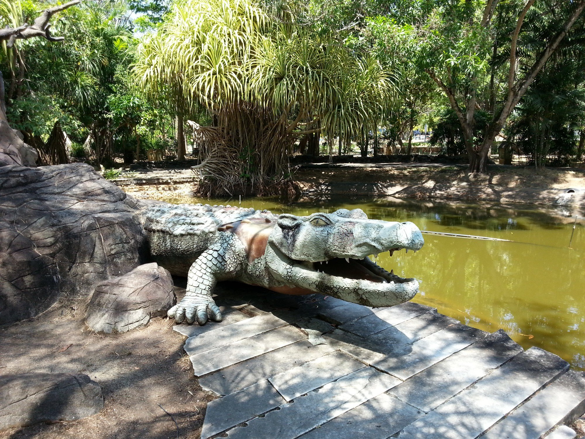 Crocodile protecting the Lake of the Pregnant Maiden