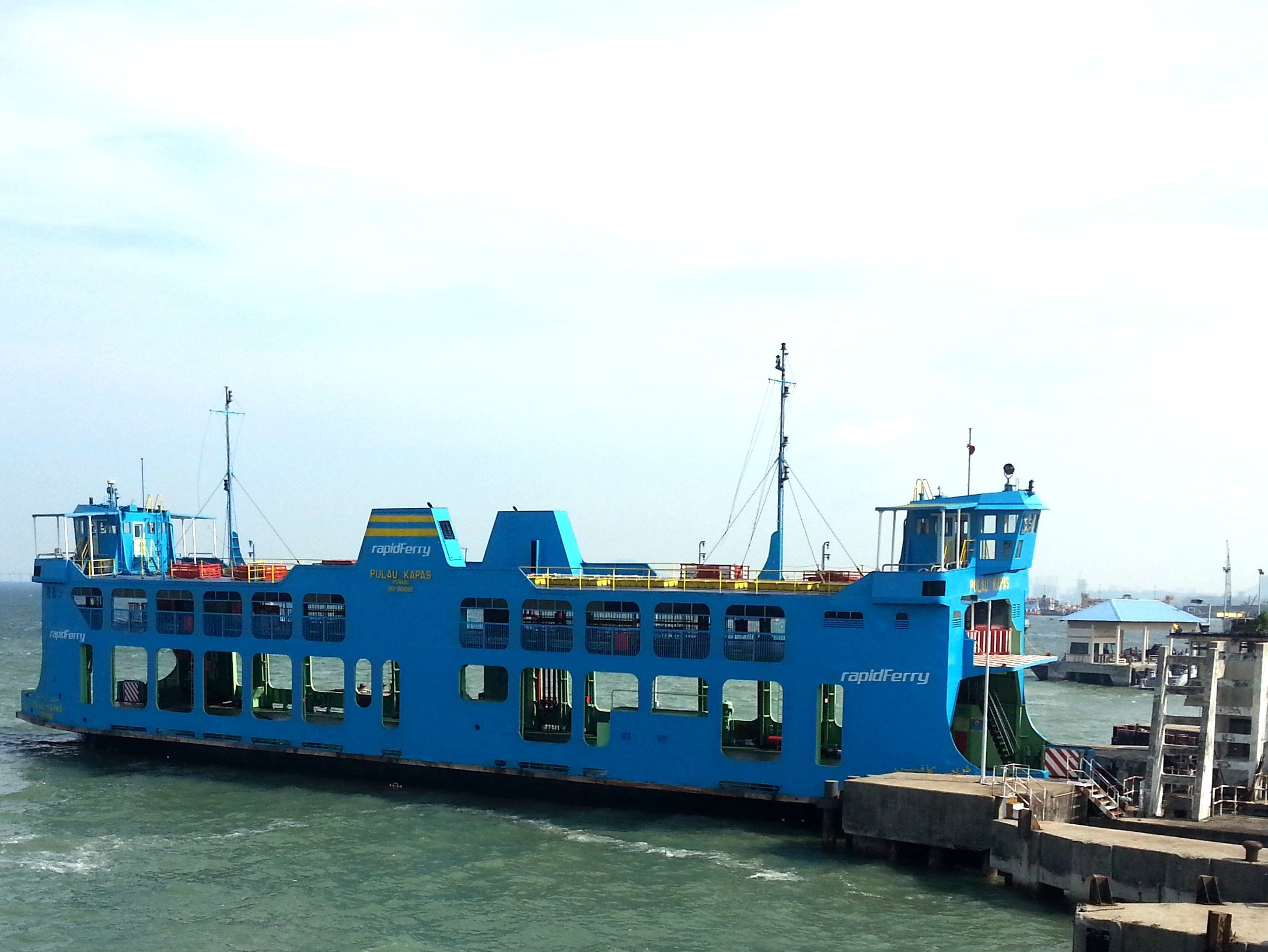 Car ferry to Penang Island