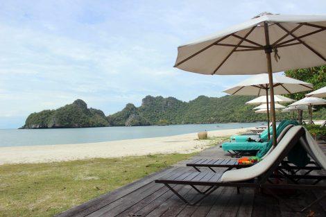Relax on the beach in Tioman Island