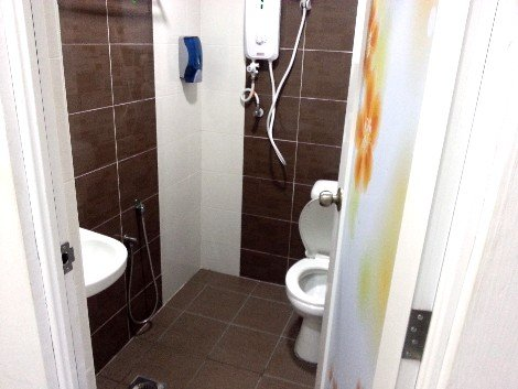 Bathroom at the T-Hotel