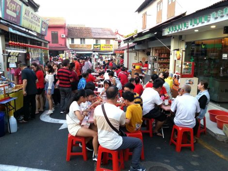 Food court at Jonker Walk Night Market