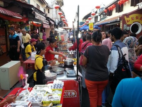 Food stall at Jonker Walk Night Market