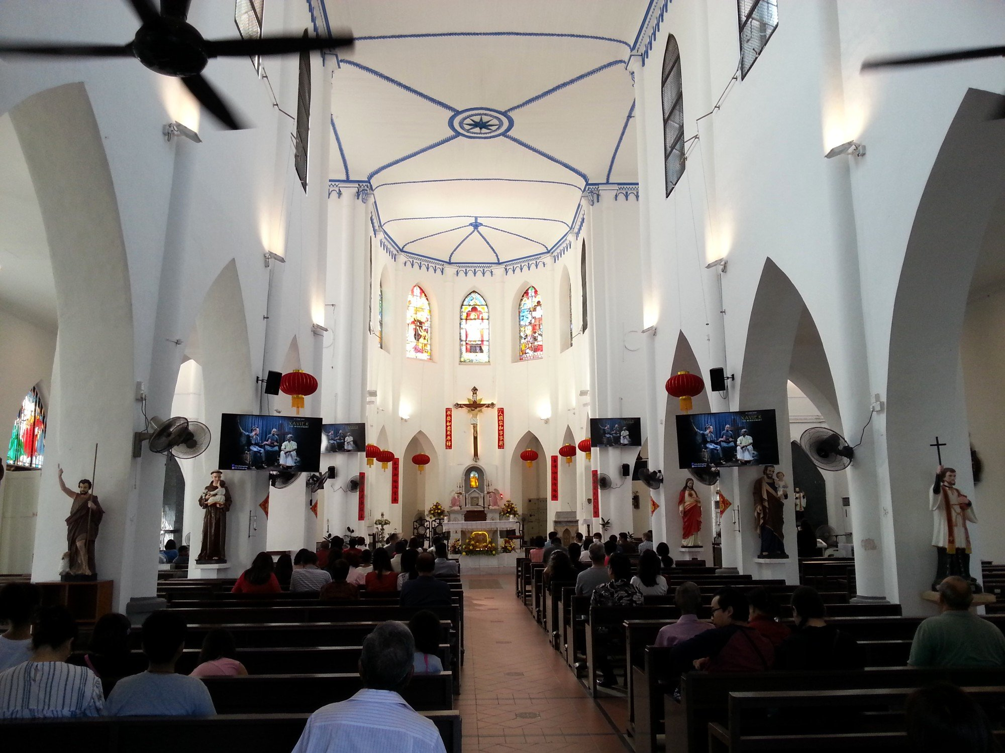 Inside the Church of St. Francis Xavier