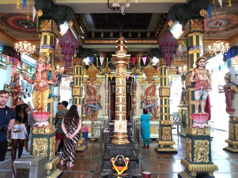 Inside the Sri Mahamariamman Temple