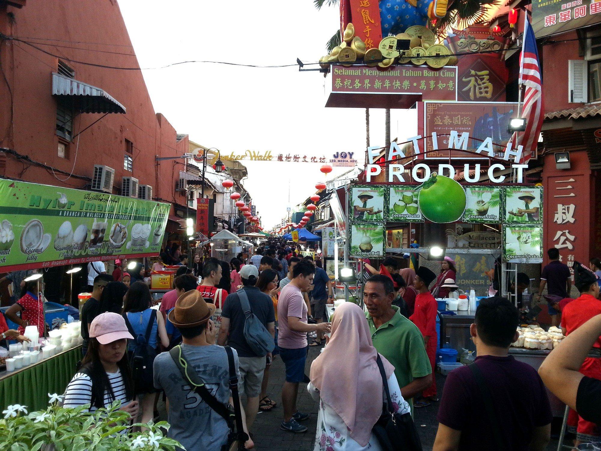Jonker Walk Night Market in Melaka