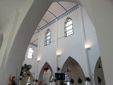 Transept in the Church of St. Francis Xavier