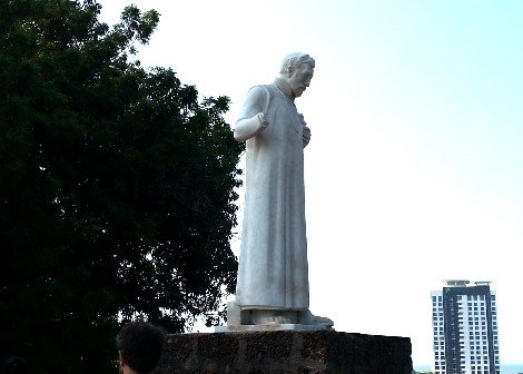 Statue of Saint Francis Xavier at St. Paul's Church