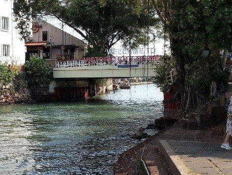 Tan Kim Seng Bridge over the Malacca River