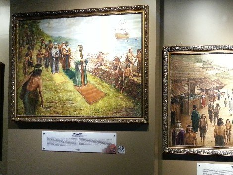 Paintings depicting life during the Sultanate of Melaka