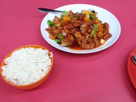 Sweet and sour pork at Restoran Hoi Kee