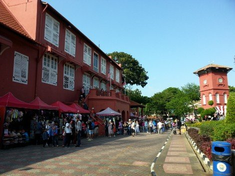 The Stadthuys in on Dutch Square in Melaka