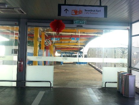 Entrance to the Ferry Terminal at Penang Sentral Bus Station