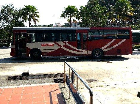 Local bus service at Melaka Sentral Bus Station