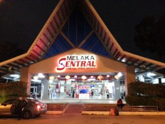 Main entrance to Melaka Sentral Bus Station
