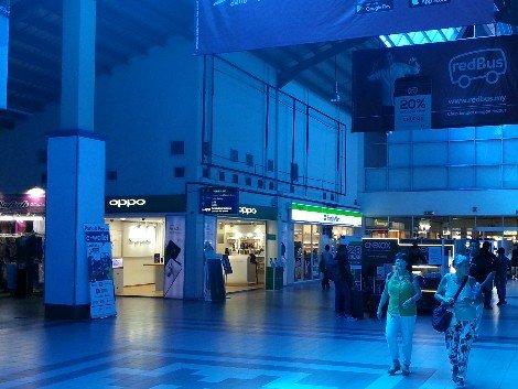 Shopping mall at Melaka Sentral Bus Station