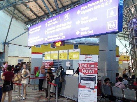 Ticket counter at Melaka Sentral Bus Station