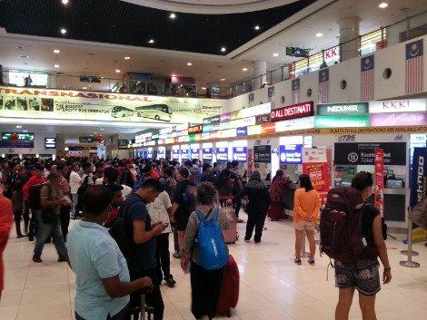 Ticket hall at Terminal Bersepadu Selatan