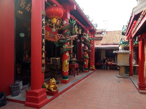 Forecourt of the Melaka San Duo Temple