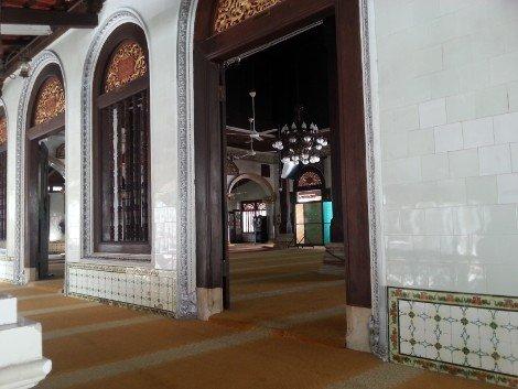 Prayer hall at Kampung Kling Mosque