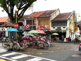 Cycle rickshaws in Penang