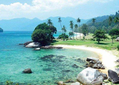 Beautiful beaches on Tioman Island