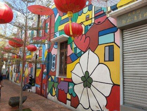 Colourful street art in Melaka